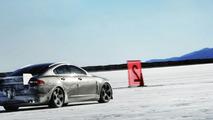 Jaguar XFR prototype at Bonneville Salt Flats
