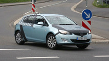 Opel Astra 5-door post reveal prototype at Nurburgring