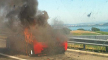 Burned Ferrari 458 Italia