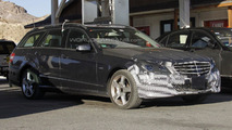 2014 Mercedes E-Class facelift spy photos 23.07.2012