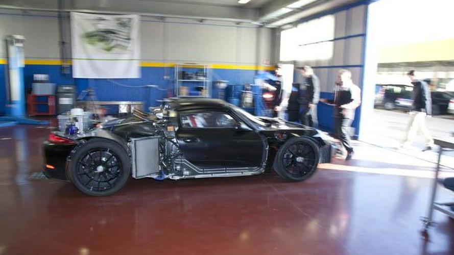 Porsche 918 Spyder prototype hits the track