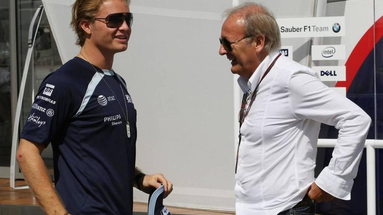 Nico Rosberg (GER), WilliamsF1 Team and Werner Heinz (GER), Manager of Nick Heidfeld, Turkish Grand Prix, 26.08.2007 Istanbul, Turkey
