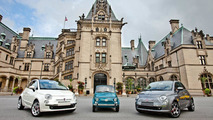 An original 1966 Fiat 500 together with the European versions of the