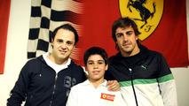 Felipe Massa, Lance Stroll, Fernando Alonso, indoor karting track, Montreal Canada, 10.06.2010