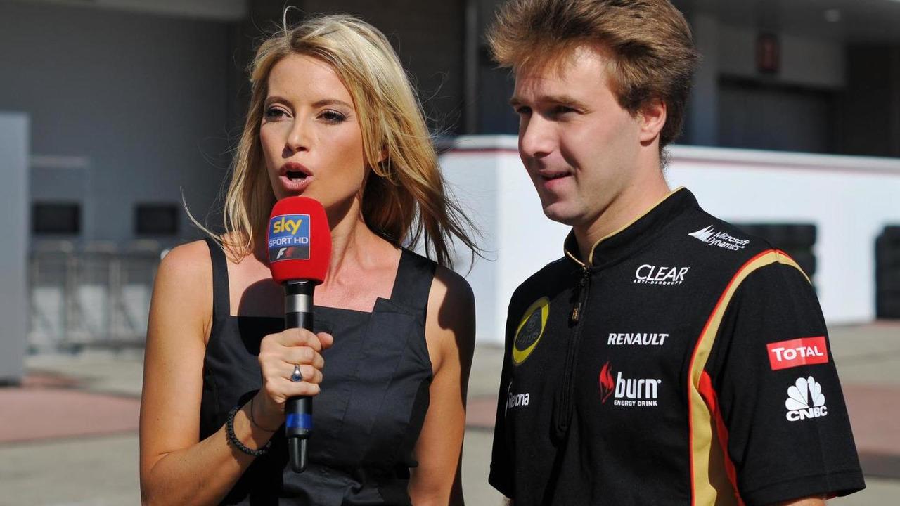 Davide Valsecchi with Sarah Winkhaus (GER) Sky Sports F1 Presenter 04.10.2013 Korean Grand Prix,