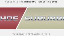 2015 Chevrolet Tahoe & Suburban to debut on September 12th