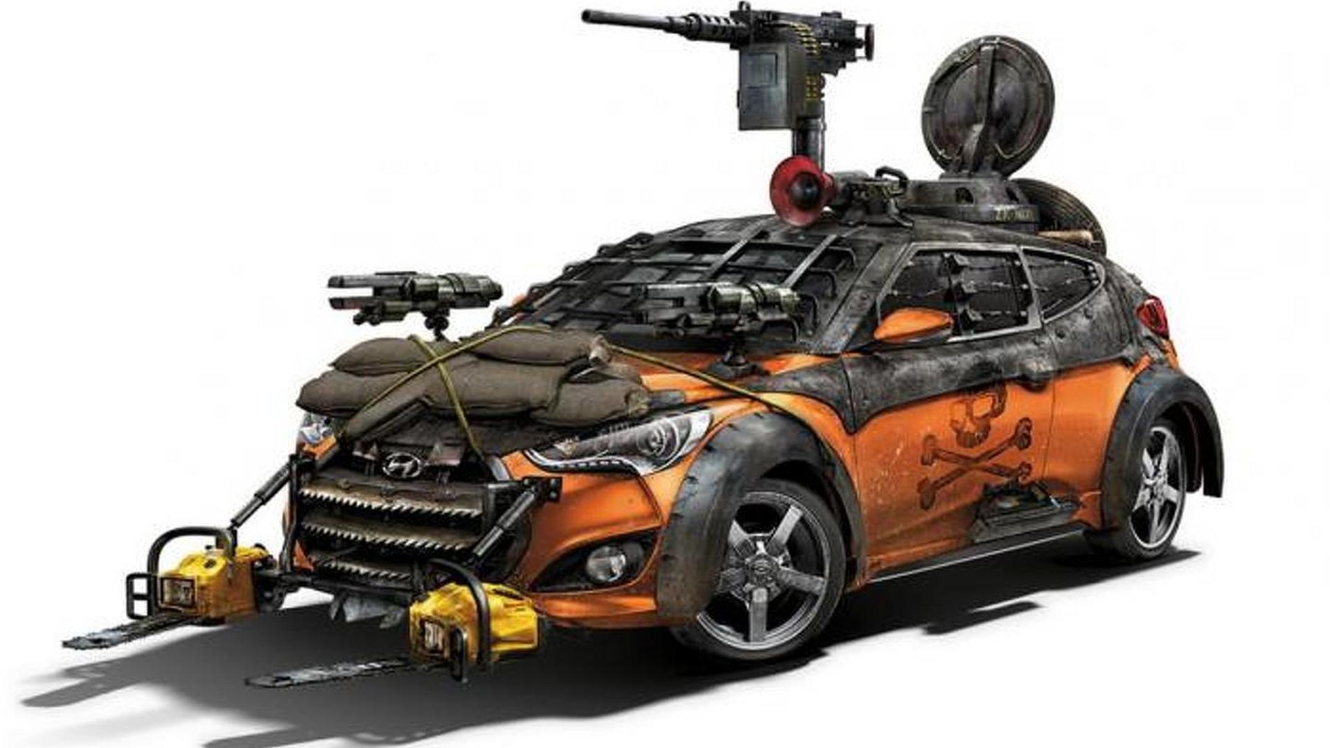 Hyundai Veloster Zombie Survival Machine revealed at Comic-Con