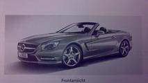 2013 Mercedes SL-class brochure leaked