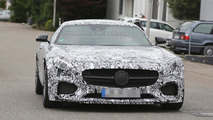 Mercedes AMG GT spied up close with a possible aerodynamic package