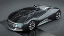 Audi inspired F-Tron design concept is a nuclear-powered supercar