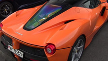 Orange LaFerrari spotted at Spa along with FXX K owned by Google executive's wife [videos]