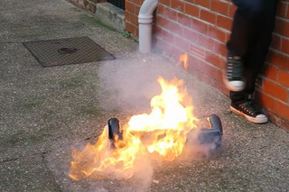 Watch a Hoverboard Burst into Flames Right Out of the Box