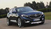 Future Opel flagship SUV rendered