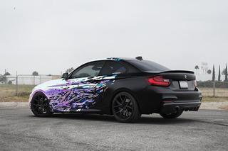 BMW M235i Gets Wild With a 'Rainbow' Wrap