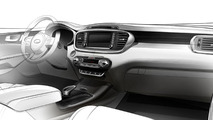 Third generation Kia Sorento interior cabin teased