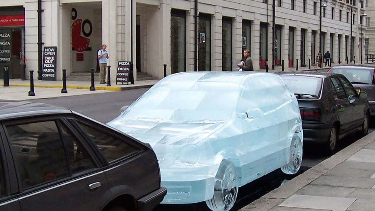 VW Polo Twist Ice Sculpture