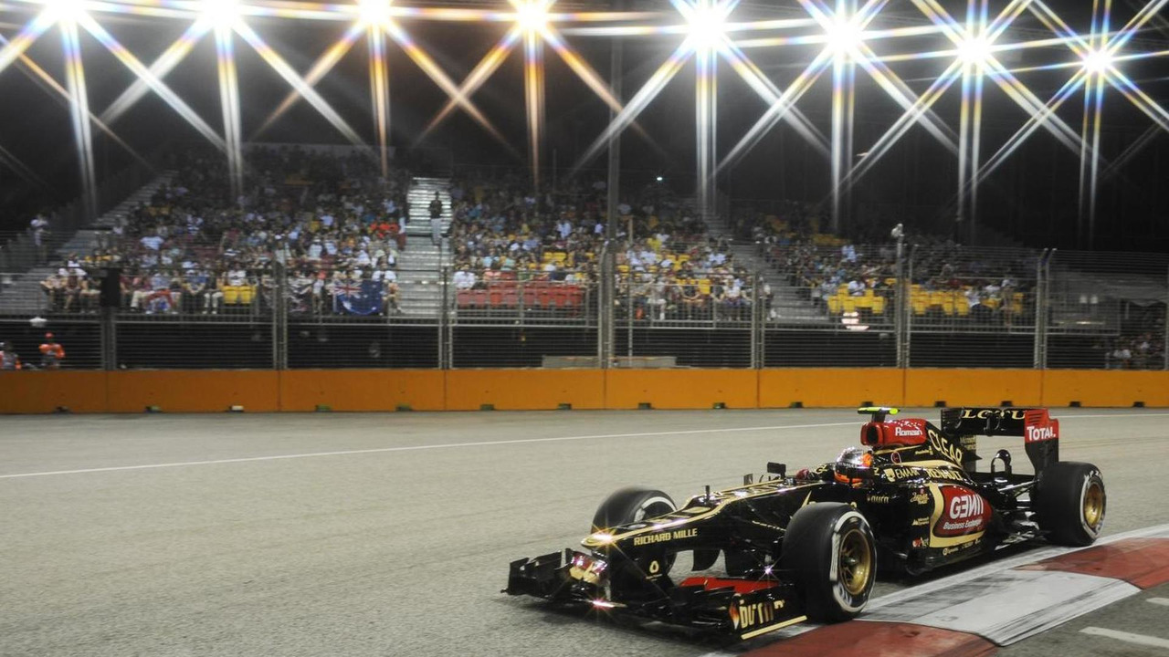 Romain Grosjean 21.09.2013 Singapore Grand Prix