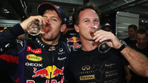 Sebastian Vettel and Christian Horner 27.10.2013 Indian Grand Prix