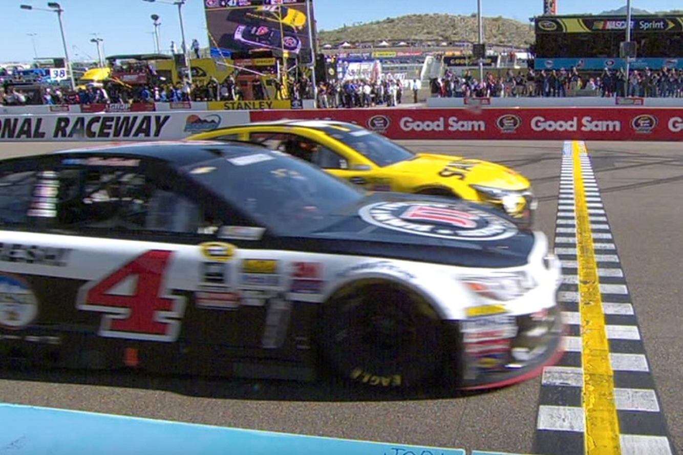 Kevin Harvick Won Yesterday's NASCAR Race By Just 4 Inches