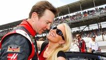 Kurt Busch, Stewart-Haas Racing Chevrolet with girlfriend Patricia Driscoll