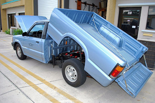 Zap! This Vintage '91 Mazda Pickup Truck is All Electric