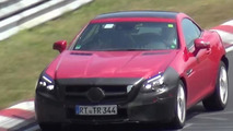 Mercedes-Benz SLC spied on the Nurburgring with new LED DRLs [video]