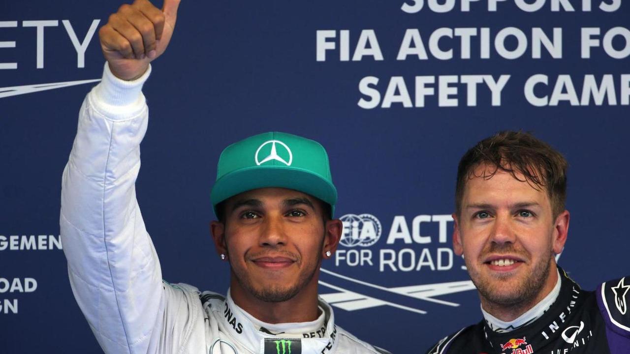 Lewis Hamilton (GBR) and Sebastian Vettel (GER), 19.04.2014, Chinese Grand Prix, Shanghai / XPB