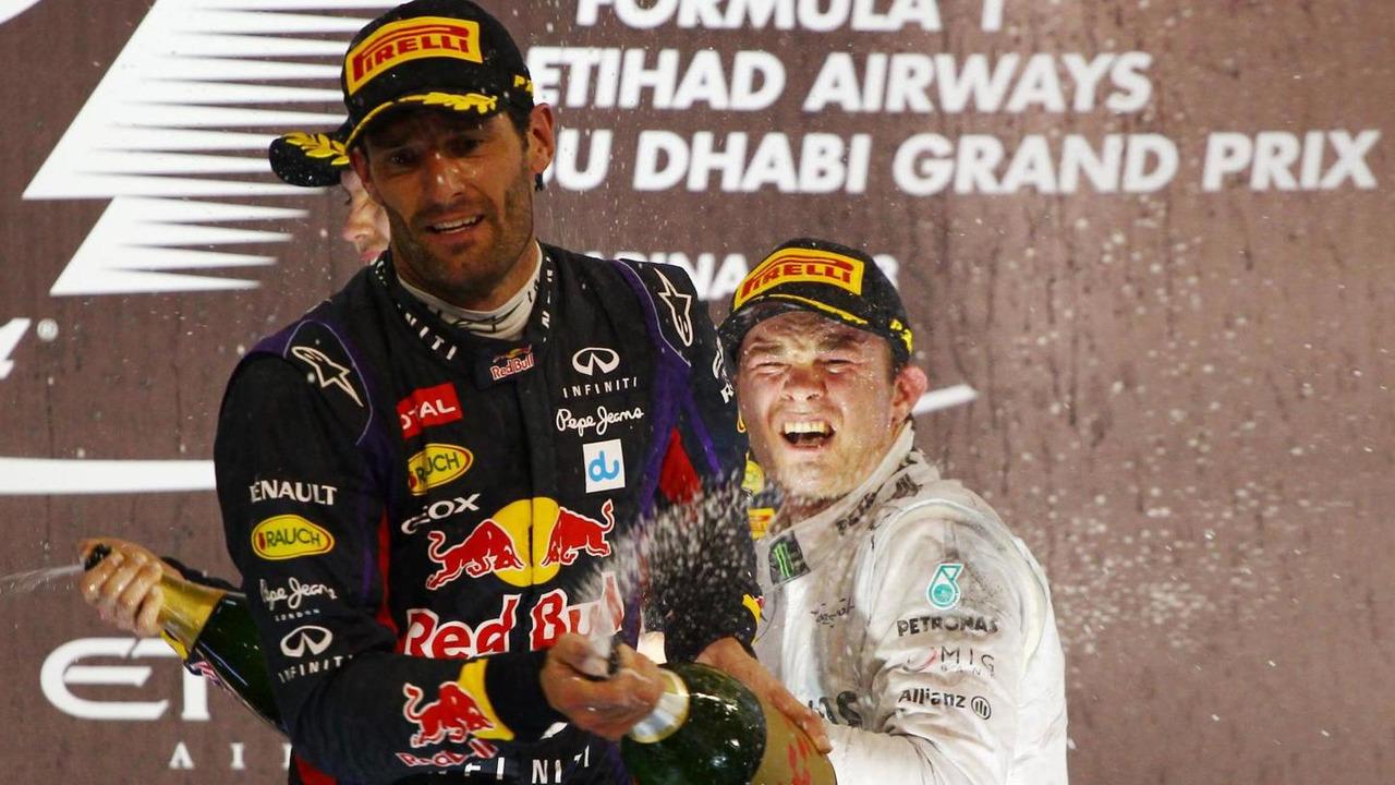 Nico Rosberg with Mark Webber 03.11.2013 Abu Dhabi Grand Prix