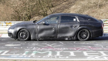2014 Maserati Quattroporte prototype spy photo on Nurburgring
