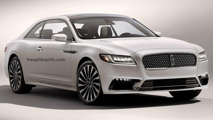 Lincoln Continental render loses rear doors, gains regular handles