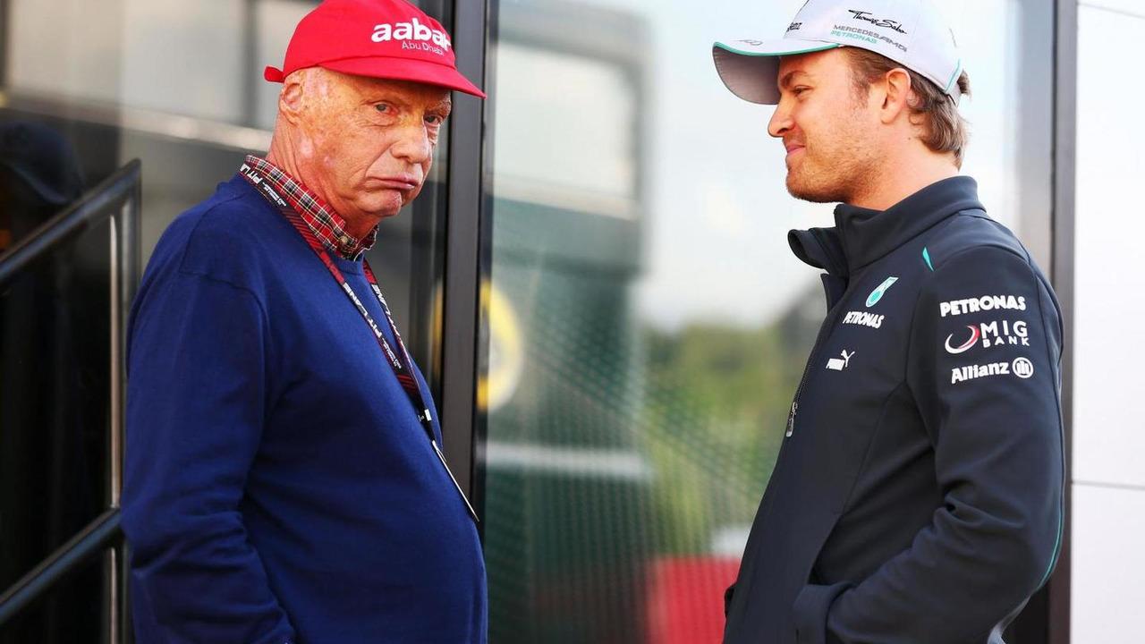 Niki Lauda (AUT) with Nico Rosberg (GER) / XPB