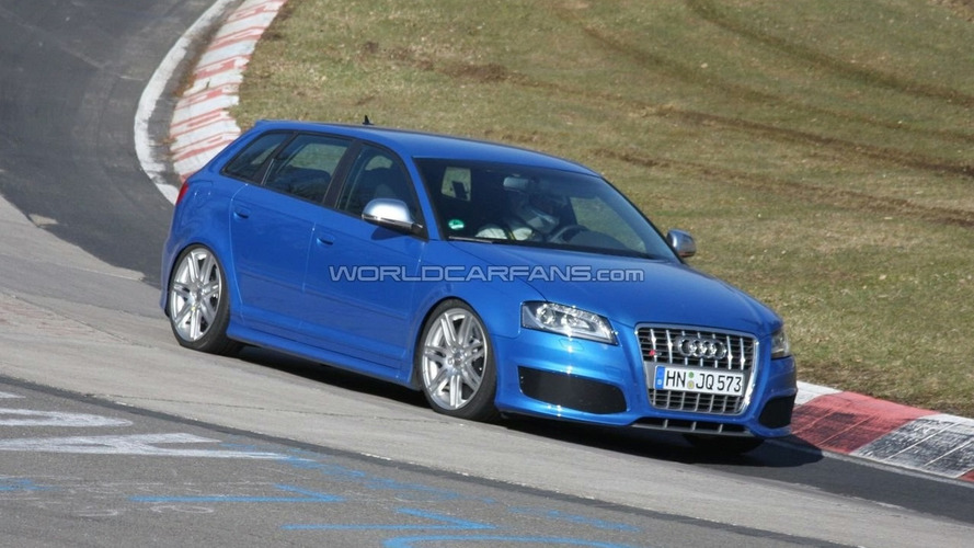 Audi RS3 Mule First Spy Photos at Nürburgring