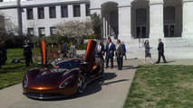 Governor Schwarzenegger Test Drives Hydrogen Assisted Ronn Motors Scorpion Supercar