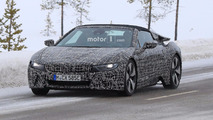 BMW i8 Spyder spied with coupe in Sweden