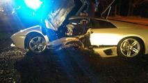 Lamborghini Murcielago joyride ends with a tree crash