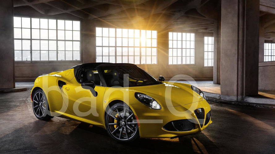 Alfa Romeo 4C Spider first official images leaked