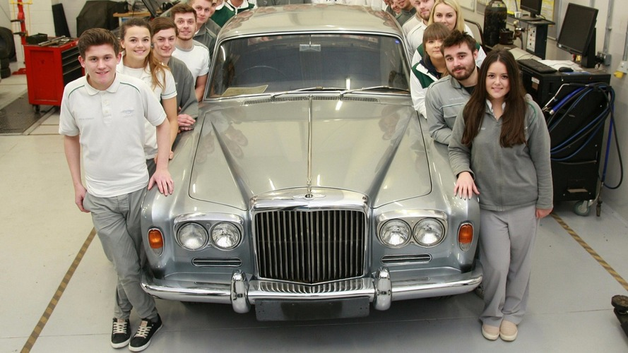 Bentley apprentices embark on major restoration of 1965 T-Series