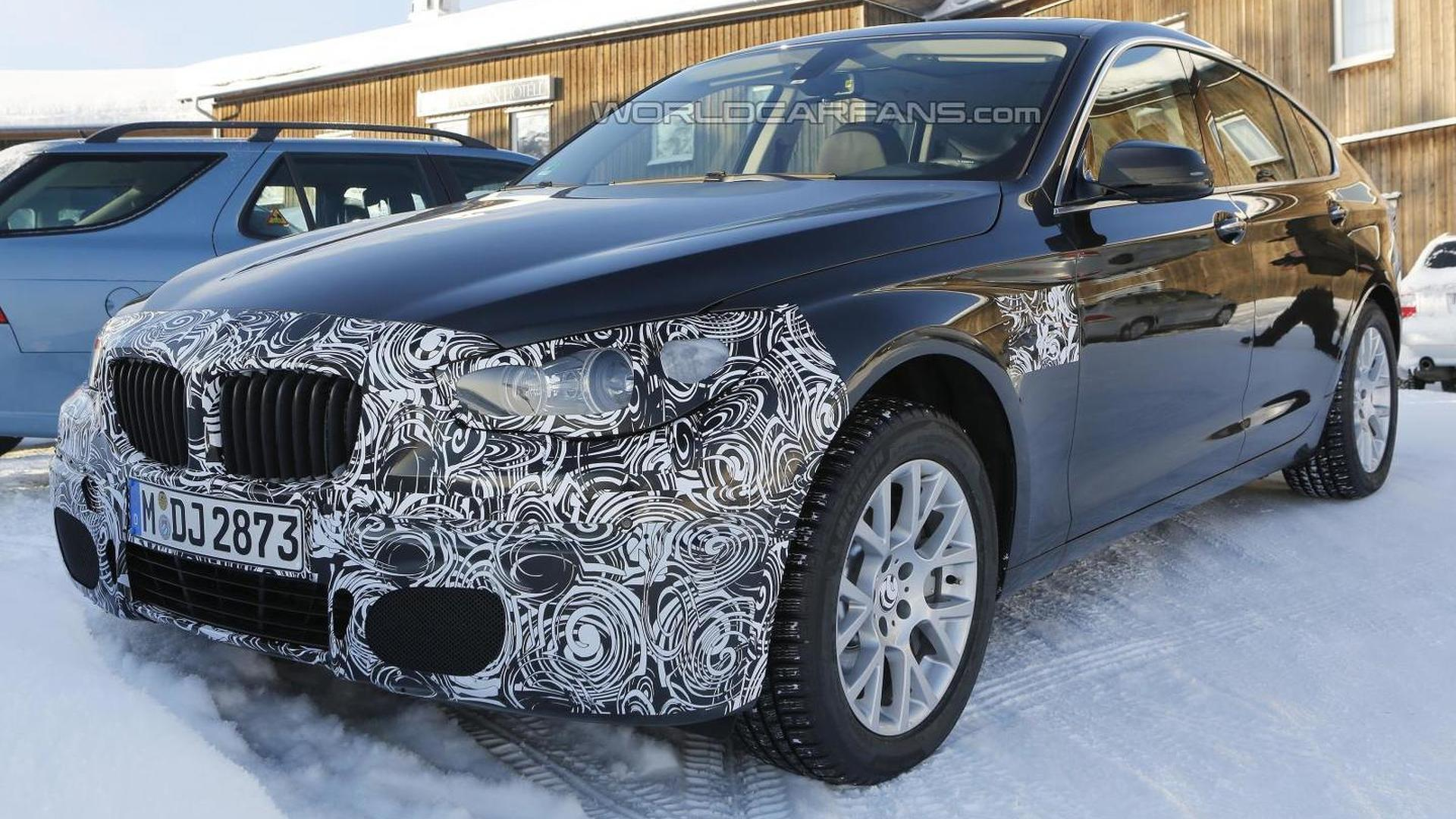 2014 BMW 5-Series GT facelift spied again
