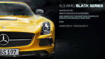 Mercedes-Benz launches SLS AMG Black Series micro-site