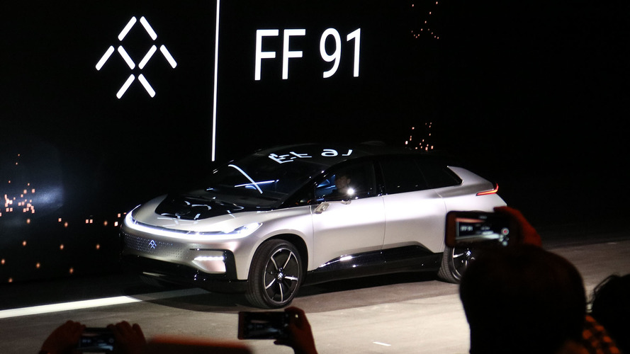 Faraday Future FF 91 goofs at self-parking during debut