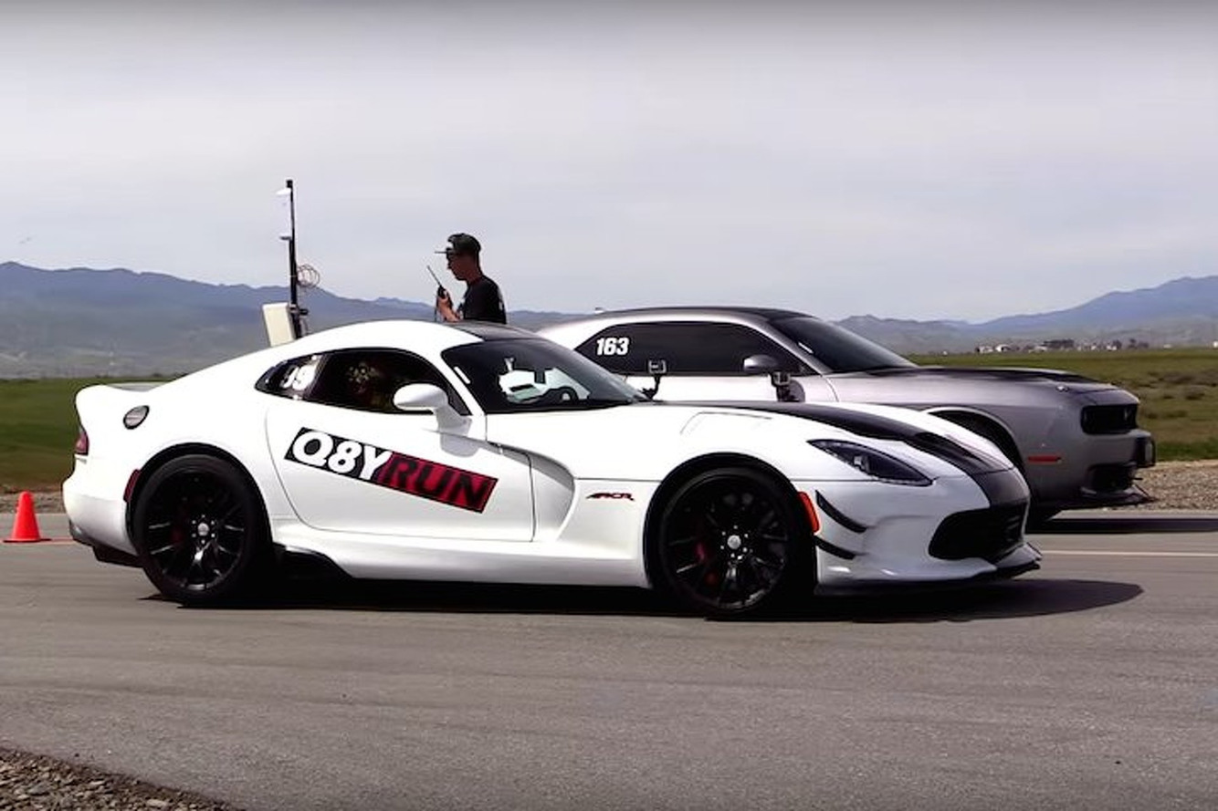 Dodge Viper ACR vs Bolt On Challenger Hellcat: Who Wins?