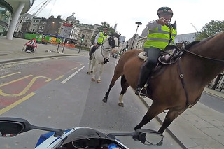 Watch this Cop on a Horse Nab a Show Off Motorcyclist