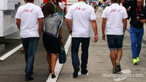 The family of Jules Bianchi in the paddock