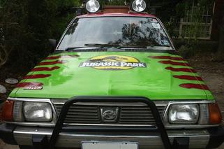 Subaru Wagon Turned into Jurassic Park Car