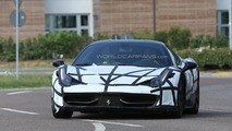Ferrari 458 M Coupe & Spider spied testing a new exhaust system
