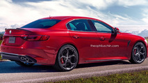Alfa Romeo Giorgio Quadrifoglio render shows great potential for hypothetical M5 rival