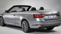 Skoda Superb Convertible rendered as a classic Felicia successor