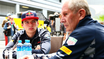 Dr Helmut Marko, Red Bull Racing Team Consultant with Max Verstappen, Scuderia Toro Rosso