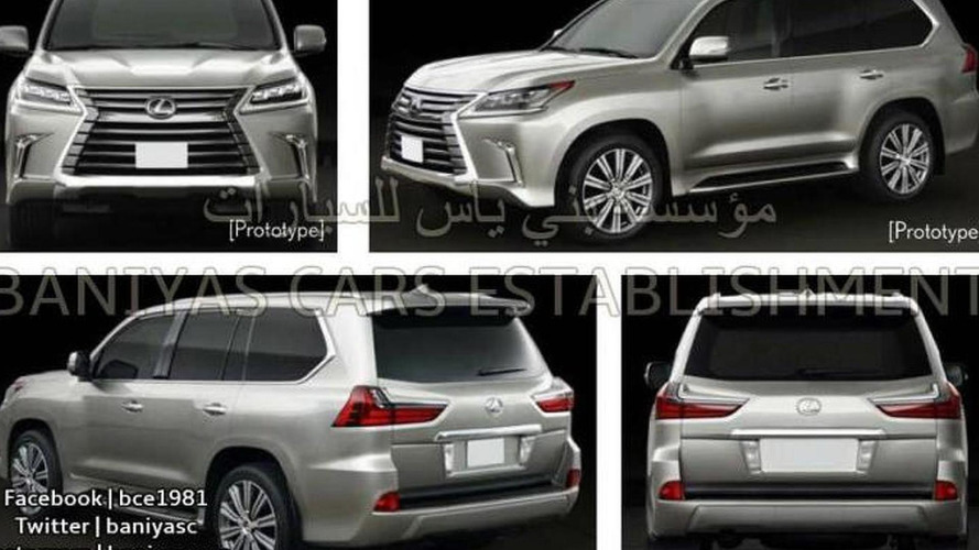 New Lexus LX facelift images leaked