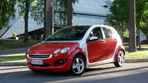 Smart Forfour on location in Hyvinkaa Finland